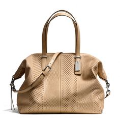 The Bleecker Large Cooper Satchel In Perforated Leather from Coach