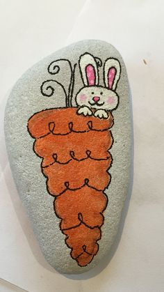 Easter Rock painting Easter Rock painting Best Picture For stone cartoon For Your Taste You are looking for something, and it is going to tell you exactly what you are looking Rock Painting Patterns, Rock Painting Ideas Easy, Rock Painting Designs, Paint Designs, Painted Rock Animals, Painted Rocks Craft, Hand Painted Rocks, Pebble Painting, Pebble Art