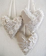 Hearts from beautiful lace