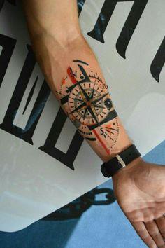 The Best Globe Tattoos Compass Tattoos Arm, Forearm Band Tattoos, Forarm Tattoos, Tribal Arm Tattoos, Neck Tattoos, Tattos, Small Tattoos Men, Wrist Tattoos For Guys, Wind Tattoo