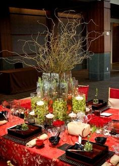 Japanese Wedding Table Tablescape