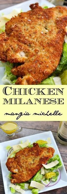 Chicken milanese is a classic and simple dish that makes an easy and delicious meal for everyone ~ www.mangiamichelle.com