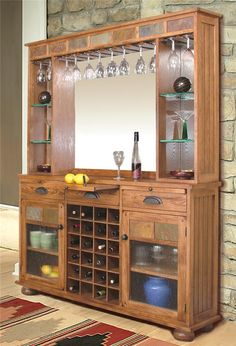 We have the Bottom part of this bar, I want the top part now for the wine glasses - Sedona Back Bar & Server by Sunny Designs - Wolf Furniture - Bar Pennsylvania, Maryland