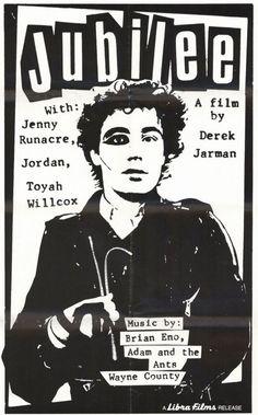 Adam Ant in Jubilee (Derek Jarmen, - Mana vietne Adam Ant, One Wave, The New Wave, Ant Music, God Save The Queen, Music Documentaries, Film Releases, Post Punk, Film Posters