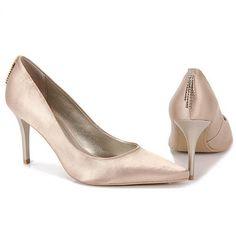 Sapato Feminino Sensuale 2530307 - Bege - Passarela.com - Calçados online