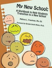 My New School: A Workbook to Help Students Transition to a New School Independent Publisher Awards Silver Medal Winner Elementary School Counseling, School Social Work, School Counselor, Elementary Schools, Counseling Activities, Group Counseling, Autism Parenting, Too Cool For School, School Stuff