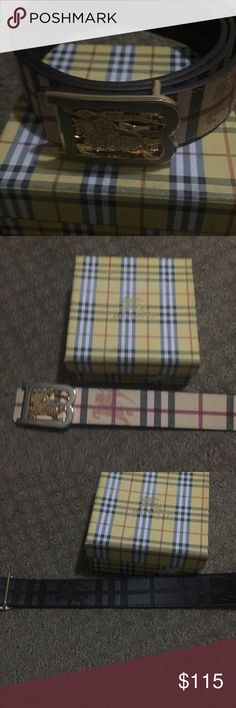 Burberry men's Belt size 32-34 Worn three times still in great condition comes with box and dust bag Burberry Accessories Belts
