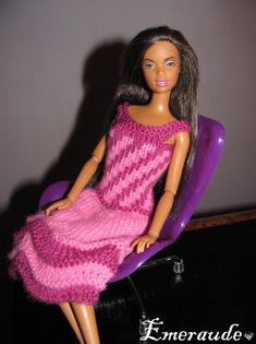 Tricot: Robe d'été n°8 pour Barbie