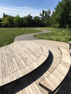 Brooklyn Naval Cemetery Landscape by Nelson Byrd Woltz Landscape Architects #USA #cemetery #landscape #perennials #landscapearchitecture #timber #wood #furniture #bench #seat