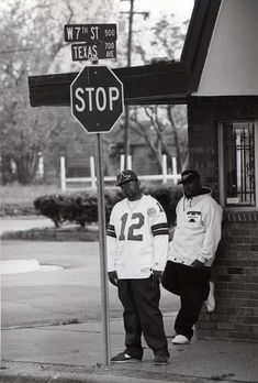 Pimp C and Bun B lampin in Port Arthur, TX around the time of their sophomoric album 'Super Tight.' (Photo taken c.1994)