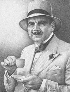 """David Suchet as """"Hercule Poirot"""" a  Belgian detective character created in Agatha Christie mysteries"""