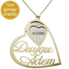 14 Ayar Altın Zincirli İsim Kolye IK3005