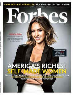 Jessica Alba on the cover of Forbes' Self-Made Women issue.