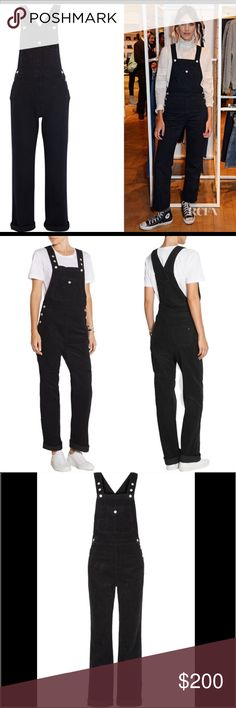 Alexa Chung AG Corduroy Overalls Alexa Chung For AG Jeans' 'Bunny' overalls have been crafted in the USA from soft cotton-corduroy for a comfortable, relaxed silhouette. A must-have weekend style, they have button-fastening straps that offer a personalized fit. Roll the cuffs to show off your favorite sneakers. - Black cotton-corduroy - Button-fastening shoulder straps, button fastenings along sides - 100% cotton - Machine wash. - Fits true to size - Cut for a slightly loose fit…