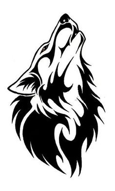 simple wolf head outline Wolf Tattoos - Tattoo Me Now Wolf Tattoos, Tribal Tattoos, Wolf Tattoo Tribal, Geometric Tattoos, Fish Tattoos, Wolf Silhouette, Lobo Tribal, Tribal Art, Wolf Tattoo Design