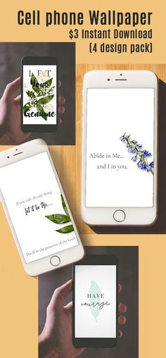 Sometimes I just need to change up my phone. I like the clean designs here, along with the encouraging words. $3, for 4 designs is a great price too. #phone #phoneart #cellphonesaccessories #handmade #scripture #affiliatelink