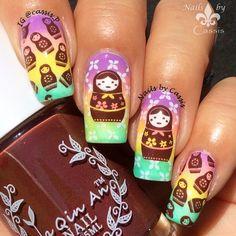 Nails by Cassis: Colourful Matryoshka Doll Mani