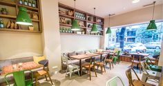 MY G-C - My Green Cup in Budapest #coffeeshop #green #cafedesign #contract #furniture #design Bistro Interior, Green Cups, Cafe Design, Coffee Shop, Conference Room, Table, Contract Furniture, Budapest, Furniture Design