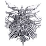 White Bronze Unbound Fairy Pendant - PS-WZPD163 by Medieval Collectibles