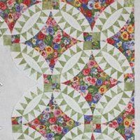 Pickle Dish Quilt - Double Wedding ring gone wild