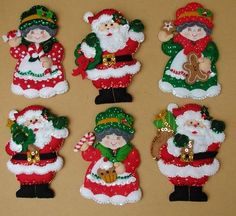 Bordados Oma - Porta Cubiertos Sra Noel Gingerbread Christmas Decor, Felt Christmas Ornaments, Christmas Wood, Christmas Themes, Handmade Christmas, Christmas Stockings, Christmas Holidays, Christmas Crafts, Christmas Decorations