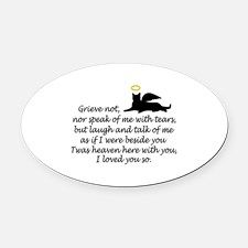 I LOVED YOU SO Oval Car Magnet for