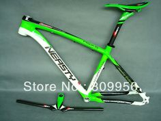 """(493.35$)  Watch here - http://aiuq7.worlditems.win/all/product.php?id=694602881 - """"15"""""""" green paint MTB bicycle parts carbon mtb bike parts collection"""""""