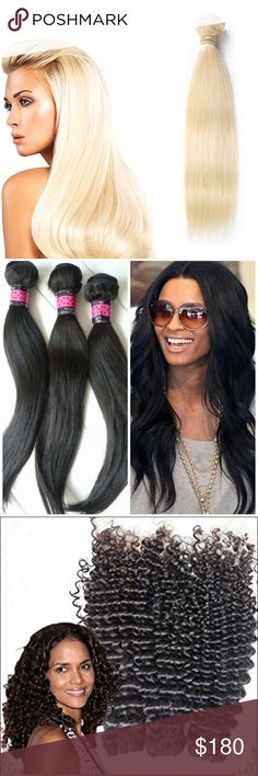 100% unprocessed virgin human hair (3) bundles 3 Bundles any length 08-24 inches Malaysian , Brazilian  Indian  Peruvian Mink Cambodian  Russian Eurasian Silk base closures Lace wigs  9A quality No shedding, no matting, full bundles https://squareup.com/store/heavenlywefts-2/ heavenly wefts Other