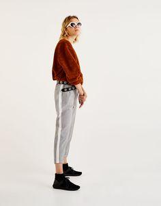 Pantalón jogging tailoring raya lateral - Pantalones - Ropa - Mujer -  PULL BEAR España d908652d9a57