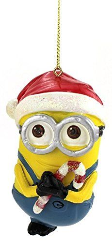 "These are so hard to find online...found one seller on #Amazon with only 5 left! Wow!!! 3.5"" Despicable Me Minion Dave with Santa Hat Christmas Ornament Kurt Adler"
