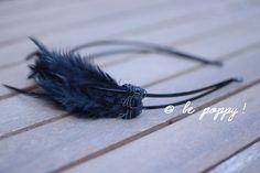 CEINTURE et SERRE-TÊTE  déguisement Blackswan  plumes par bepoppy