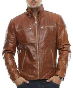Blouson cuir daytona dustin sheep tiger