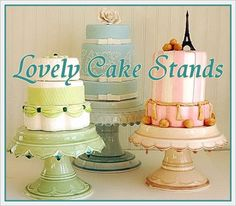 cake stands and shabby chic cakes