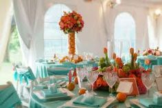 1000 images about orange and teal wedding flowers on