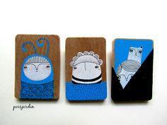My handmade brooches. Brooches Handmade, Hand Painting Art, Handmade Accessories, Coasters, Hand Painted, Coaster