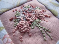 Quilted and embroidered needlebook KIT by mariadownunder on Etsy