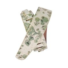 Planet Waves : Distressed Leather Guitar Strap Floral, White