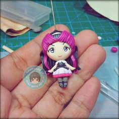 Commissioned chibi, #RavenQueen from #EverAfterHigh. :) #polymerclay