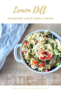 Easy, healthy, and perfect for summer! Spend more time outside with this quick orzo recipe. Vegetable Orzo Recipe, Roasted Vegetables, Veggies, How To Cook Orzo, Orzo Recipes, Incredible Recipes, Vegetarian Cheese, Summer Recipes, Stuffed Peppers