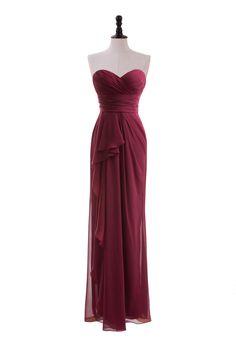 Sweetheart Chiffon Dress with Side-Draped Skirt bridesmaid dress
