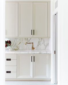 Oyster painted kitchen