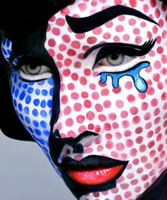 halloween costumes pop art | halloween-makeup-facepaint-face-paint-costume-comic-pop-art.png (500 ...