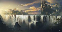 Waterfall by rulez-dmitriy.deviantart.com on @DeviantArt