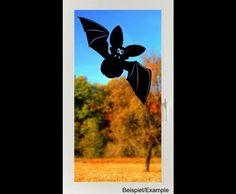 Deko Halloween - Schusselige Fledermaus - Halloween - Folien-Tattoo - ein Designerstück von CatrinKerschl bei DaWanda
