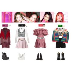 BLACKPINK - AS IF IT'S YOUR LAST❤️ by vvvan99 on Polyvore featuring mode, House of Holland, Anna Sui, Gucci, Alexander Wang, Just Cavalli, River Island, Dr. Martens, Windsor Smith and Miu Miu