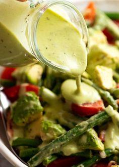 Avocado Vinaigrette, Creamy Avocado Dressing, Avocado Salad, Green Salad Dressing, Salad Dressing Recipes, Salad Recipes, Lunch Recipes, Avocado Recipes, Healthy Recipes