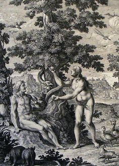 The Phillip Medhurst Picture Torah Temptation of Adam and Eve. Genesis cap 3 v Haumann Snake Goddess, The Falling Man, Religion Catolica, Gustave Dore, Garden Of Eden, Gravure, Religious Art, Fantasy Art, Pencil Drawings