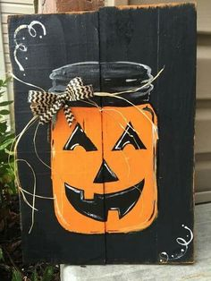Halloween wood decoration