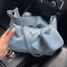 Fashion Handbags, Purses And Handbags, Fashion Bags, Replica Handbags, Aesthetic Bags, Blue Aesthetic, Luxury Purses, Luxury Bags, Sacs Design