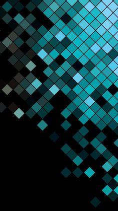 Más formas geométricas y colores fríos aparecen en este wallpaper abstracto.